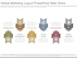 Global Marketing Layout Powerpoint Slide Show