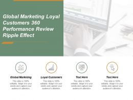 Global Marketing Loyal Customers 360 Performance Review Ripple Effect Cpb