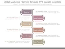 Global Marketing Planning Template Ppt Sample Download
