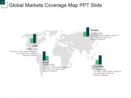 Global Markets Coverage Map Ppt Slide