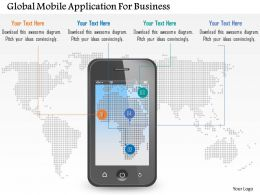 Global Mobile Application For Business Powerpoint Templates