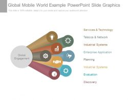Global Mobile World Example Powerpoint Slide Graphics