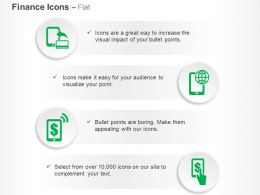 Global Money Transfer Mobile Banking Ppt Icons Graphics