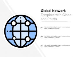 Global Network Template With Globe And Points
