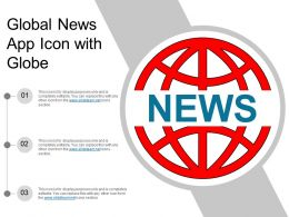 Global News App Icon With Globe