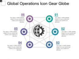 Global Operations Icon Gear Globe