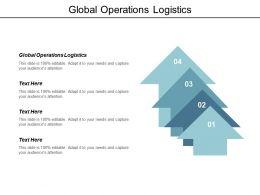 Global Operations Logistics Ppt Powerpoint Presentation Model Ideas Cpb
