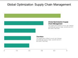 Global Optimization Supply Chain Management Ppt Powerpoint Presentation Gallery Graphics Download Cpb