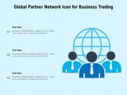 Global Partner Network Icon For Business Trading