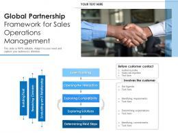 Global Partnership Framework For Sales Operations Management