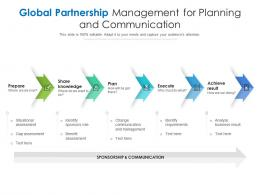 Global Partnership Management For Planning And Communication