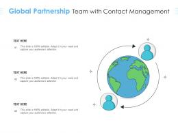 Global Partnership Team With Contact Management