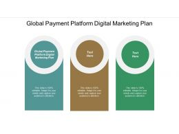 Global Payment Platform Digital Marketing Plan Ppt Powerpoint Presentation Summary Gallery Cpb