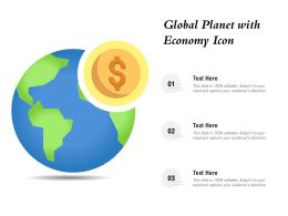 Global Planet With Economy Icon