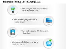 Global Power Generation For Green Energy And Environment Editable Icons