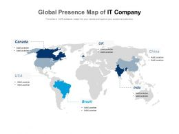 Global Presence Map Of IT Company