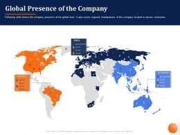 Global Presence Of The Company Asia Pacific Ppt Powerpoint Presentation File Summary