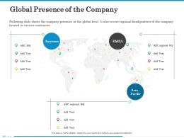Global Presence Of The Company M2535 Ppt Powerpoint Presentation File Show