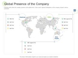 Global Presence Of The Company RCM S W Bid Evaluation Ppt Vector