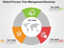 Global Process Time Management Business Flat Powerpoint Design