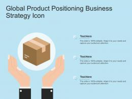 Global Product Positioning Business Strategy Icon
