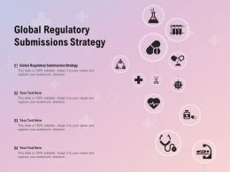 Global Regulatory Submissions Strategy Ppt Powerpoint Presentation Portfolio Graphics