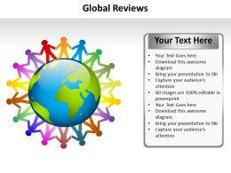 global reviews children circling globe holding hands powerpoint diagram templates graphics 712