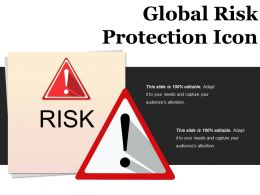 Global Risk Protection Icon Ppt Background Designs