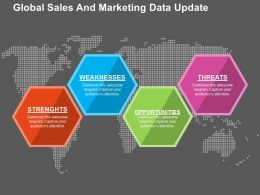 Global Sales And Marketing Data Update Flat Powerpoint Design