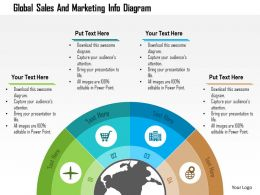 Global Sales And Marketing Info Diagram Flat Powerpoint Design