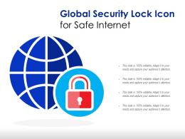 Global Security Lock Icon For Safe Internet