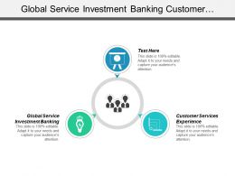 Global Service Investment Banking Customer Services Experience Service Operations Cpb