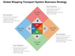 Global Shipping Transport System Business Strategy Flat Powerpoint Design