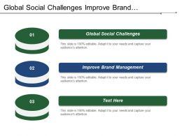 Global Social Challenges Improve Brand Management Profit Margin Contribution