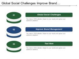 Global Social Challenges Improve Brand Management Profit Margin Contribution