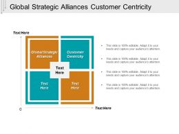 Global Strategic Alliances Customer Centricity Pooling Interest Cpb