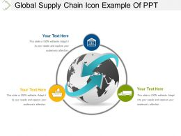 Global Supply Chain Icon Example Of Ppt