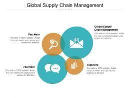 Global Supply Chain Management Ppt Powerpoint Presentation Icon Examples Cpb