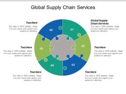 Global Supply Chain Services Ppt Powerpoint Presentation Gallery Icons Cpb
