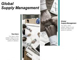 Global Supply Management Ppt Powerpoint Presentation Infographic Template Good Cpb