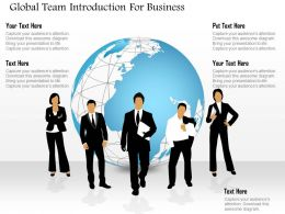 Global Team Introduction For Business Powerpoint Templates