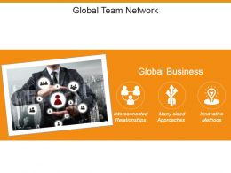 Global Team Network Powerpoint Slide Background Picture