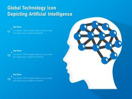 Global Technology Icon Depicting Artificial Intelligence