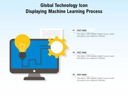 Global Technology Icon Displaying Machine Learning Process