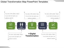 Global Transformation Map Powerpoint Templates
