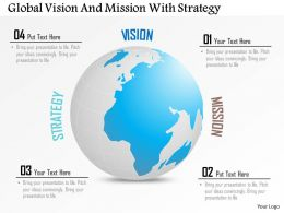 Global Vision And Mission With Strategy Powerpoint Template