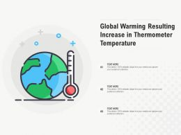 Global Warming Resulting Increase In Thermometer Temperature