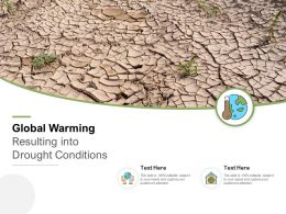 Global Warming Resulting Into Drought Conditions
