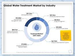 Global Water Treatment Market By Industry Management Costs Ppt Presentation Slide