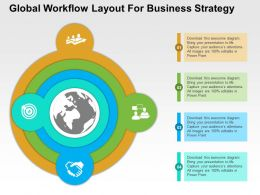 Global Workflow Layout For Business Strategy Flat Powerpoint Design
